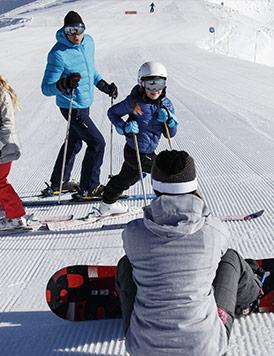 schuss por las pistas de esquí