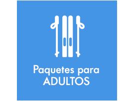 Paquetes material de esquí para adultos