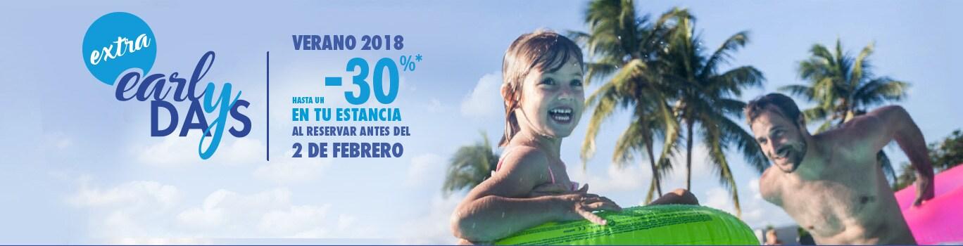 Vacaciones verano 2018 - Hasta un -30% en tu estancia