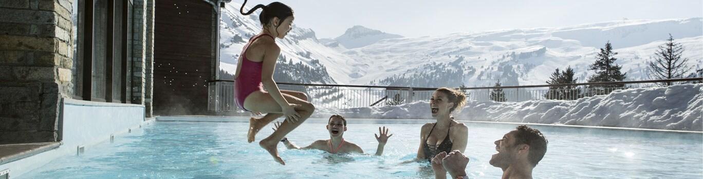 Vacaciones de esquí en invierno