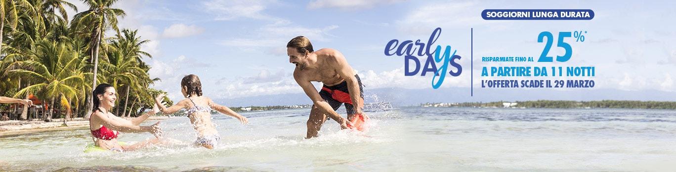 early booking vacanze estive 2 settimane