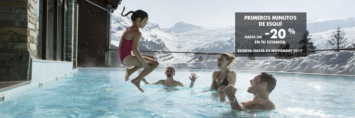 Primeros minutos de esquí - hasta un -20% en tu estancia