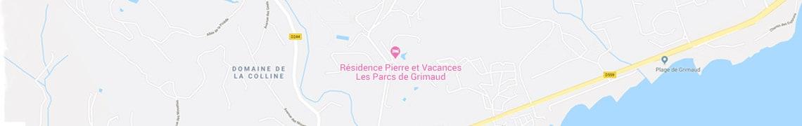 Su ubicación residence Les Parcs de Grimaud