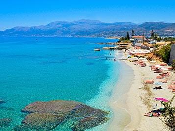 plage bleu pendant les  vacances d'été