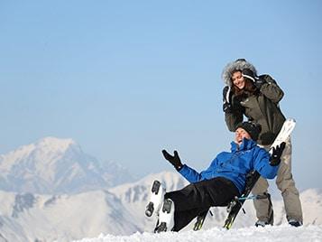 Esquí fuera de vacaciones escolares