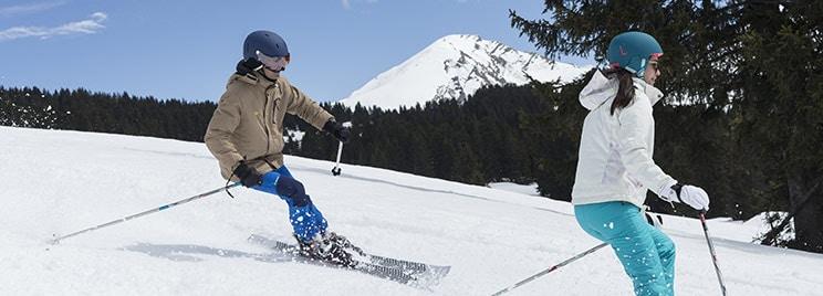 station ski décoré vacance de noel